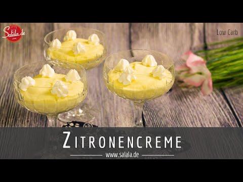 zitronencreme ohne zucker low carb dessert rezept youtube. Black Bedroom Furniture Sets. Home Design Ideas