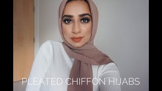 Pleated Chiffon Hijabs | Tutorials, Where to buy? & My Favourites!