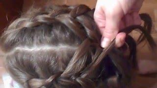 Прическа для средних и длинных волос для девочек