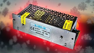 Распаковка и тест блока питания для светодиодных лент DC 12V 10A 120W из Китая(Блок питания для светодиодных лент DC 12V 10A 120W из Китая Ссылка на блок питания http://ali.pub/w2jke., 2016-02-05T14:42:07.000Z)