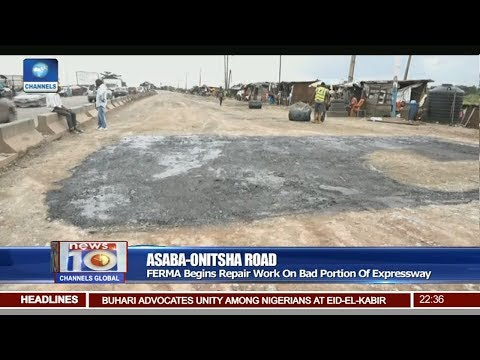 FERMA Begins Repair Work On Bad Portion Of Asaba-Onitsha Expressway Pt 3 | News@10 |