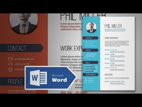 How To Create An Elegant Simple Resume In Microsoft Word | CV Design Tutorial