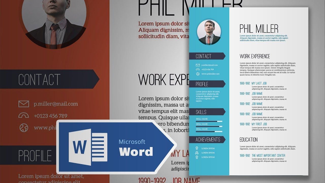 how to create an elegant simple resume in microsoft word