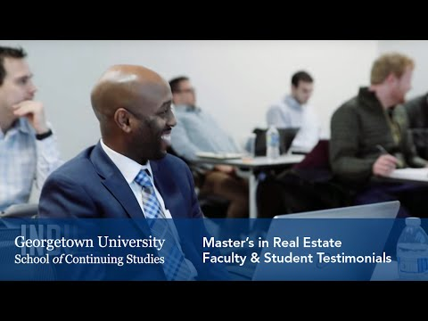Master's in Real Estate: Faculty & Student Testimonials
