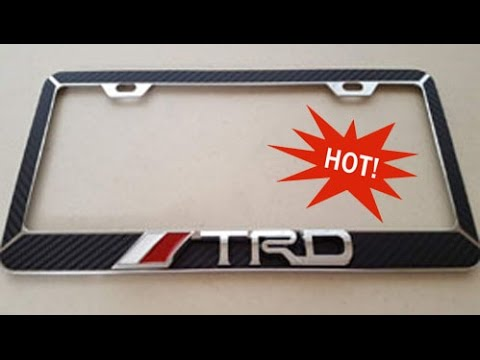 Trd Toyota License Plate Frame 3d Metal Carbon Youtube