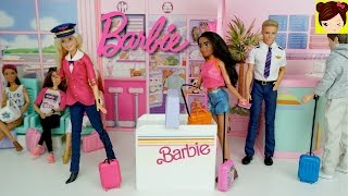 Barbie Airport and Airplane Playset - Barbie Pilot Doll Stories - Titi Toys