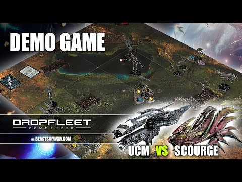 Dropfleet Commander: Demo Game - UCM VS Scourge