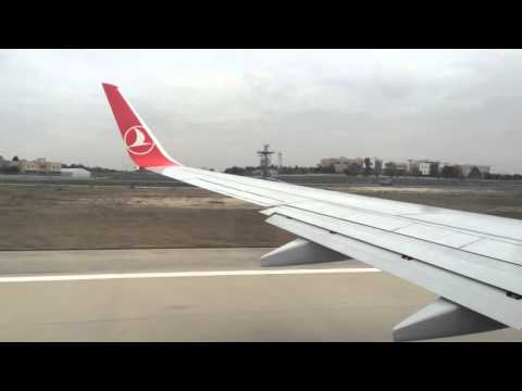 Boeing 737 take off from Istanbul Airport with Turkish Airlines