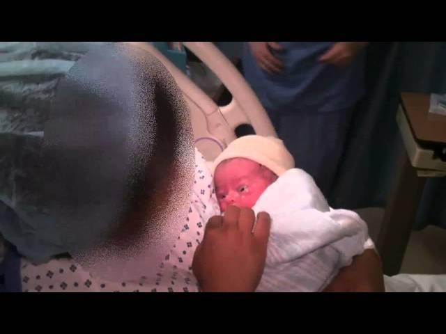 Mom gives birth, nurse scratches crotch