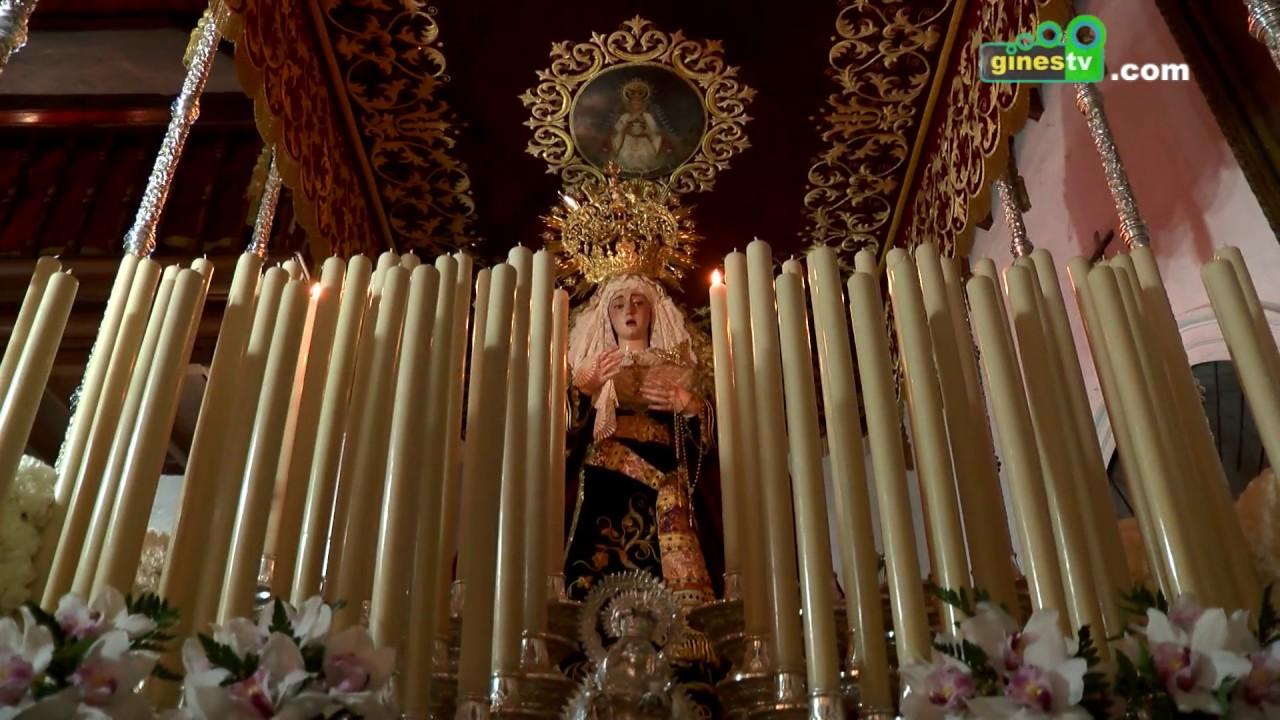El Cristo de la Vera Cruz y la Virgen de los Dolores recorrerán las calles de Gines el Viernes Santo