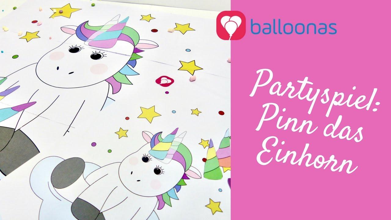 balloonas idee  diy partyspiel pinn das einhorn inkl