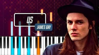"""James Bay - """"Us"""" Piano Tutorial - Chords - How To Play - Cover"""