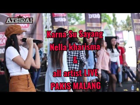 Karna Su Sayang Nella Kharisma Dan All artist   Live di Pakis Malang om LAGISTA