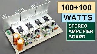 100+100 Watts Stereo Amplifier Board DIY Toshiba 2SC5200 Transistor ( Hindi ) ELECTRO INDIA