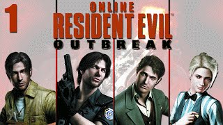 Resident Evil Outbreak Online Co-op - Stage 1 Outbreak Part 1
