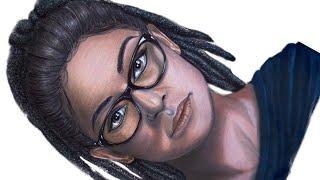 Desenhando Cosima Niehaus (Tatiana Maslany) - Orphan Black (Speed Drawing)