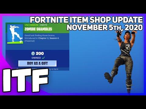 Fortnite Item Shop *NEW* ZOMBIE SHAMBLES EMOTE! [November 5th, 2020] (Fortnite Battle Royale)