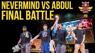 Finał Red Bull Bc One India Cypher 2016: Nevermind vs Abdul
