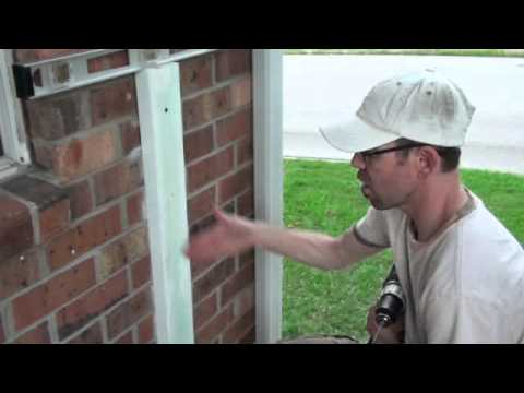 how to attach wood railing to brick wall 2