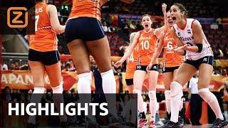 Samenvatting Nederland - VS op WK volleybal 2018
