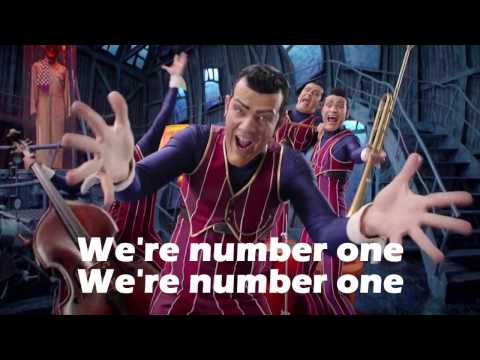 We Are Number One but its a home-made lyric video