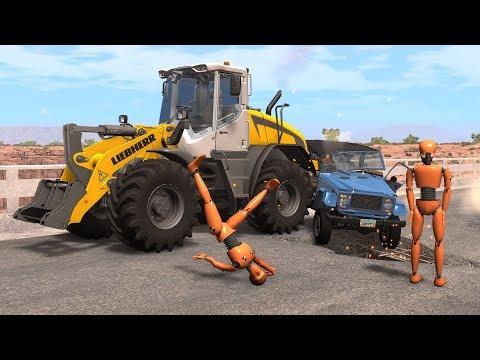 Crash Test Dummy - Construction Zone Crashes | BeamNG.drive