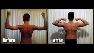 Fitness 1 year body transformation (ectomorph)