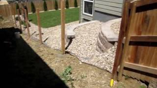 Installing A Cedar Fence Denver Fence Contractor