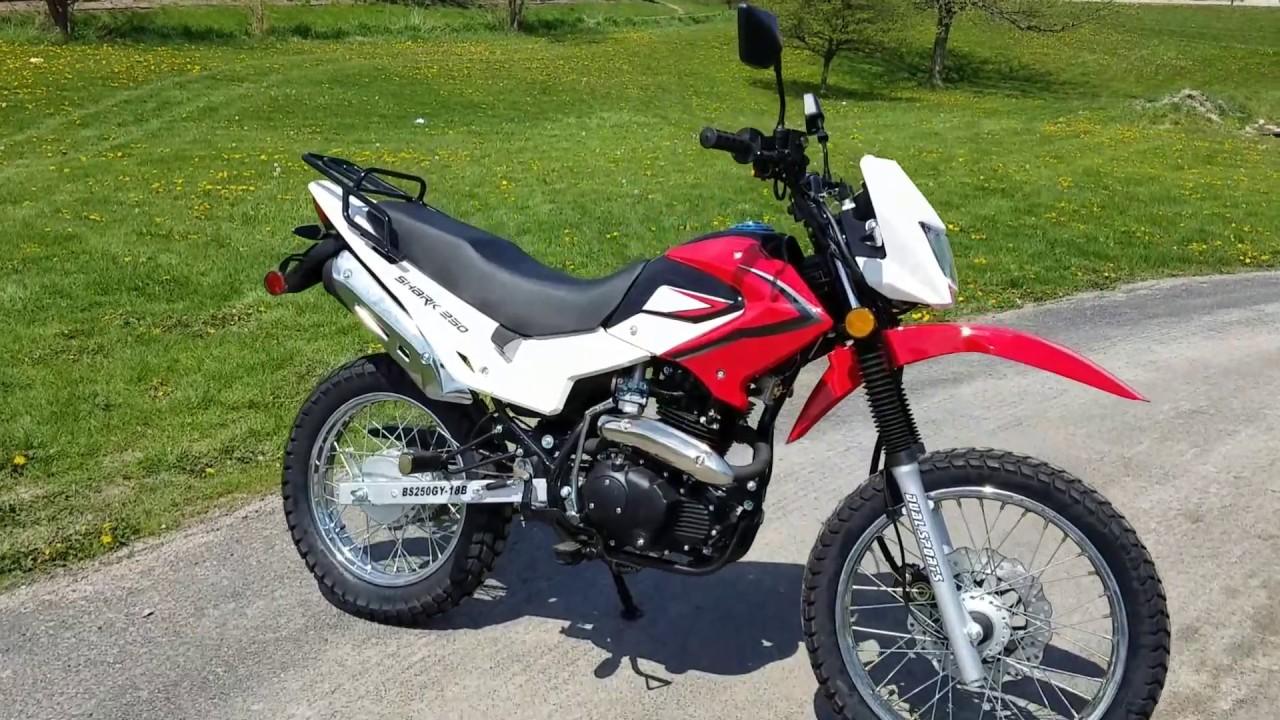 250cc Hawk 3 Enduro Dirt Bike Fully Street Legal With Electric Start Suzuki Bikes And Remote