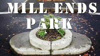 Mill Ends Park самый маленький парк в мире