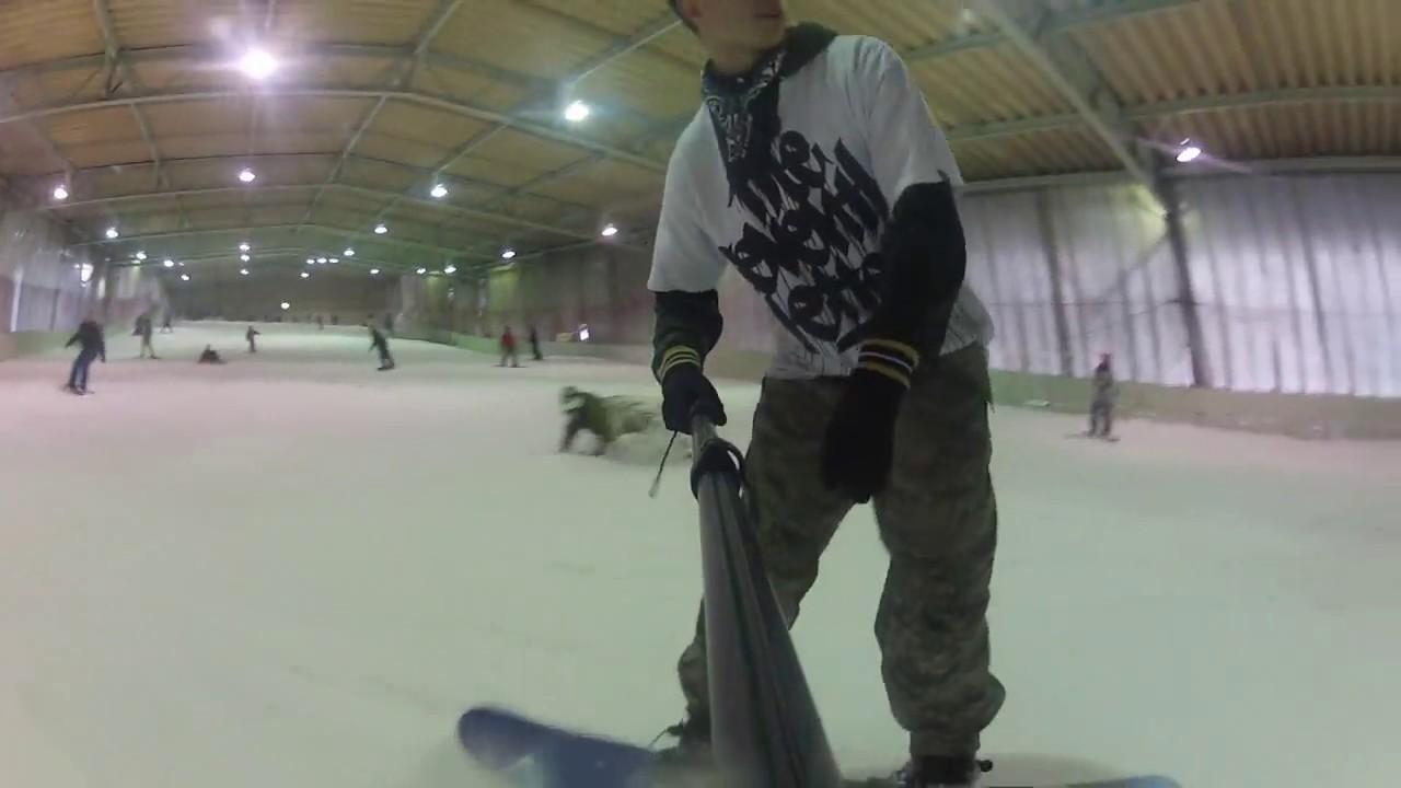 sayama ski indoor snowboarding tokyo, japan - youtube