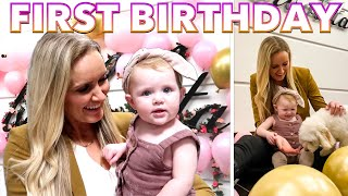 BIG FAMILY CELEBRATES FIRST BIRTHDAY PARTY OF ONE YEAR OLD TODDLER | BABY GIRL BIRTHDAY CAKE IDEAS