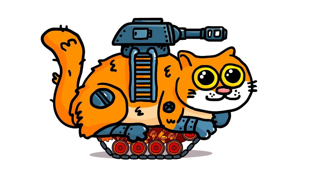 Сделали КОТОТАНК и другие топовые танки - Танковая дичь (анимация)