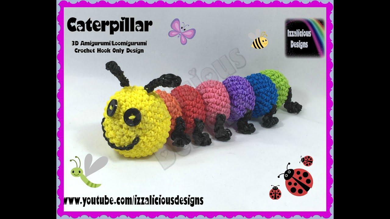 Rainbow Loom 3D Amigurumi/Loomigurumi Caterpillar with ...