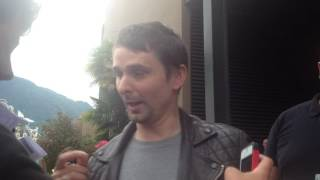 Matthew Bellamy and fans at Montreux
