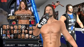 SVR11 Aj Styles real texture replay on superstar / No caw Texture 2011/2k18 PSP |  BY SVR TMOD .