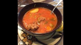 Albondigas (meatball) Soup