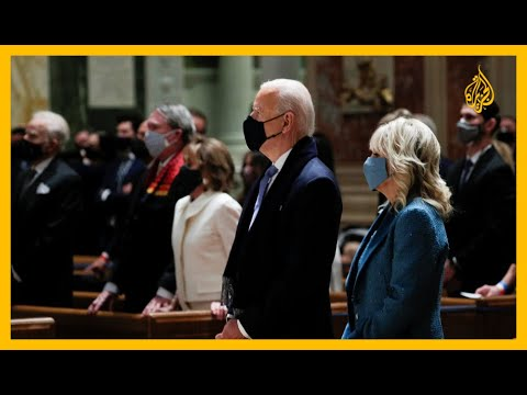 شاهد| بايدن ونواب بالكونغرس يحضرون قداسا بكنيسة في واشنطن قبيل التنصيب  - نشر قبل 1 ساعة