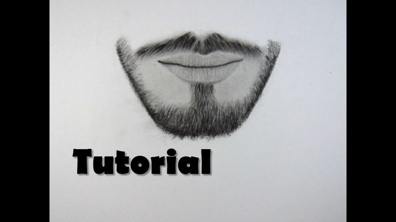 Cómo dibujar una barba FÁCIL / How to draw a beard - YouTube