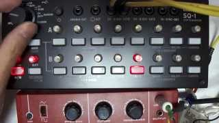 KORG SQ-1 : Unbox and test drive with SX150,montron, MS20mini,KROME and Volca