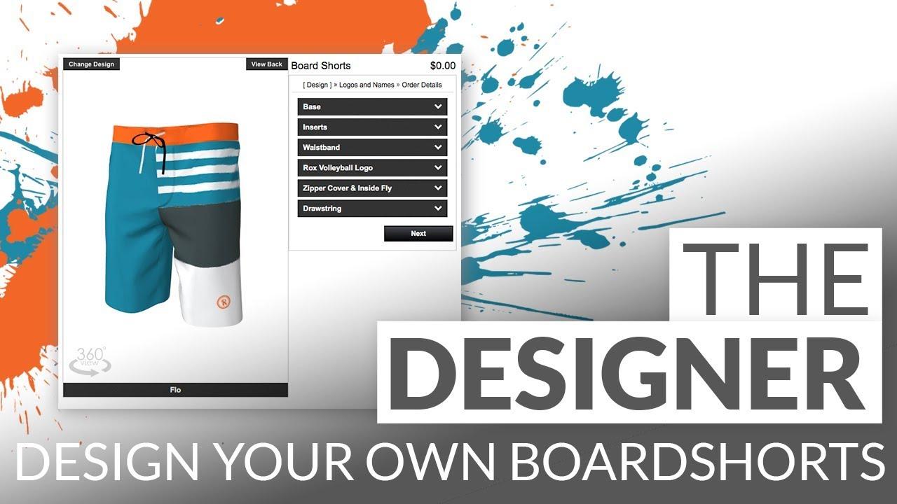 21c55301c0 Design Your Own Boardshorts! - YouTube