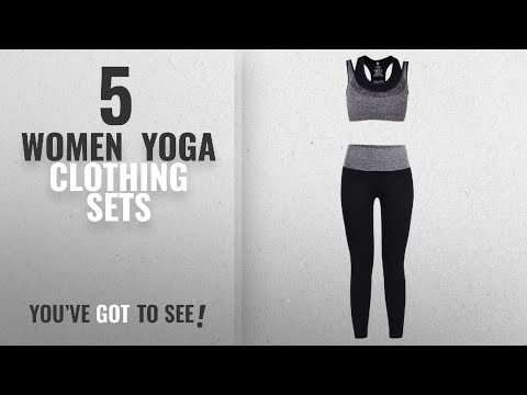 Top 10 Women Yoga Clothing Sets [2018]: Vbiger Sports Bra Yoga Clothing Set Sport Suits, Racerback