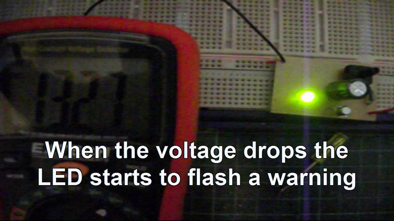 Battery Voltage Monitor Youtube Low Warning Circuit For 12 Volt Using An Lm741 Opamp