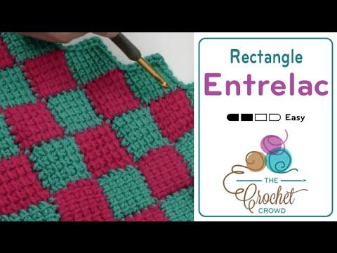 Tunisian Entrelac Crochet Rectangle Youtube