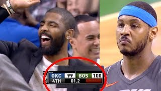 Carmelo Missed BOTH Game Winning Free Throws | Celtics Beat OKC Thunder | Crazy Ending