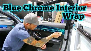 Very Easy - Interior Door Panel Wrap in Light Blue Chrome