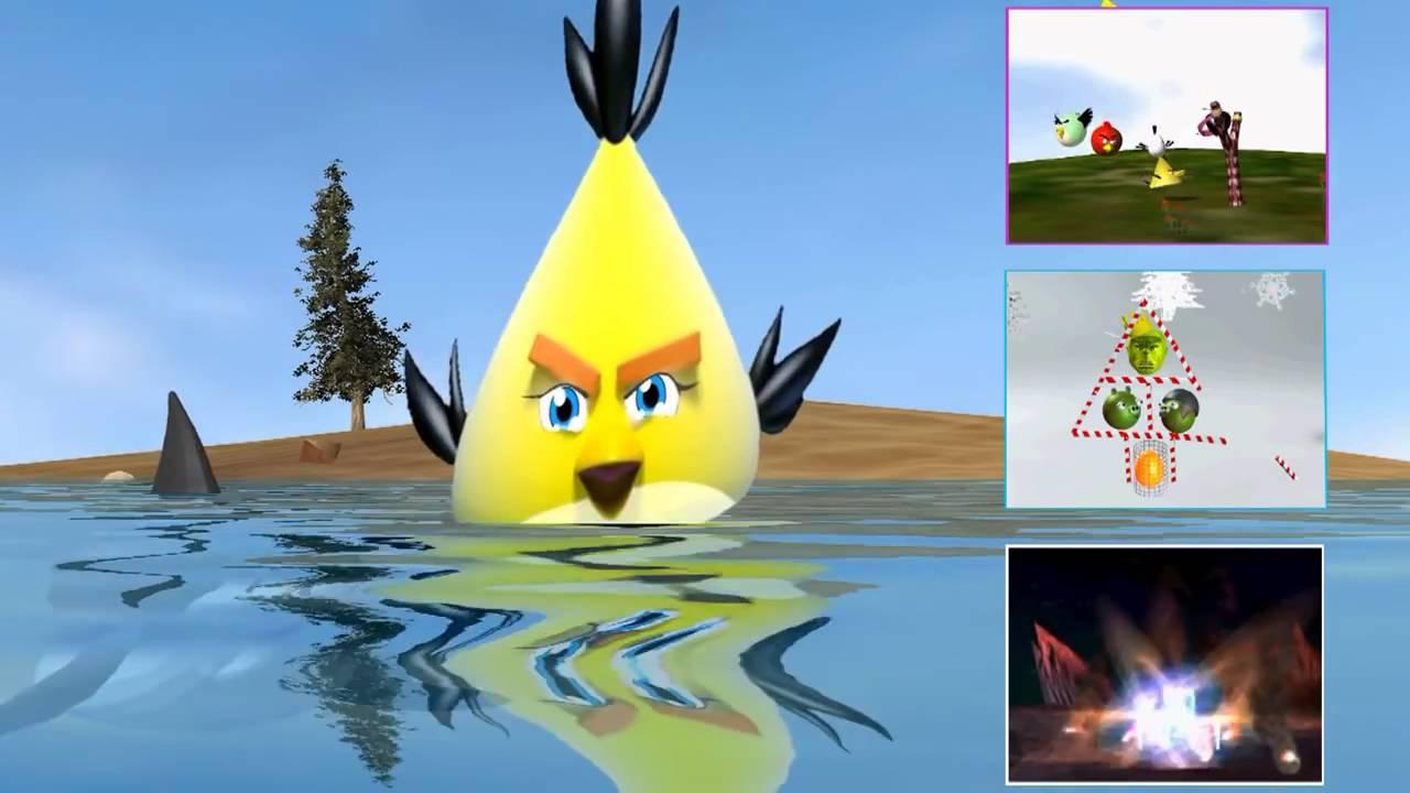 Angry Birds Spongebob Squarepants Spoof ♫ 3d Animated