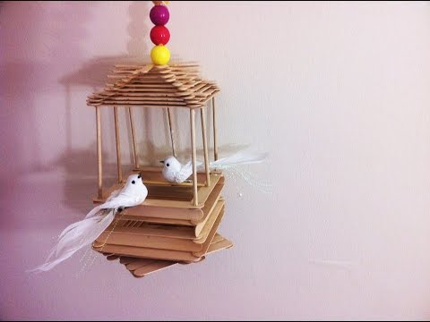 Popsicle Stick Bird House Easy Fun Craft Specially For Kids Youtube