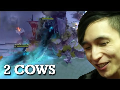 GETTING CHASED BY 2 COWS (SingSing Dota 2 Highlights #1029)