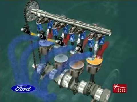 Motor Ford em funcionamento